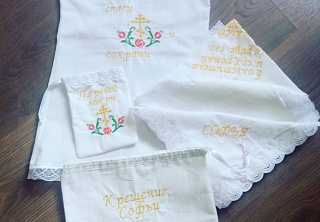 Products with original handiwork embroidery
